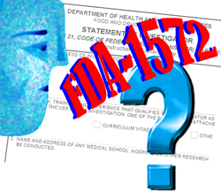 FDA Form 1572 - Guidance on the FDA's Statement of Investigator Form